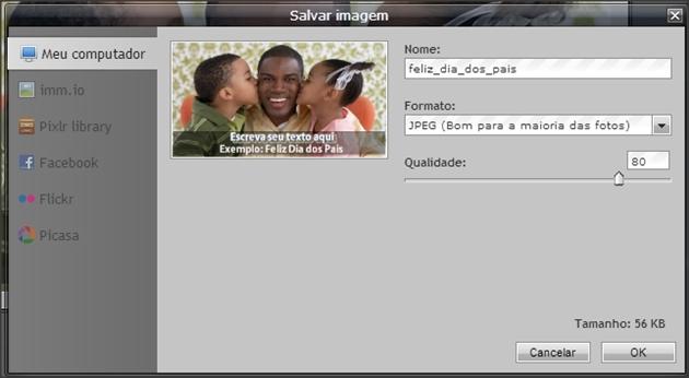 salvar imagem no computador