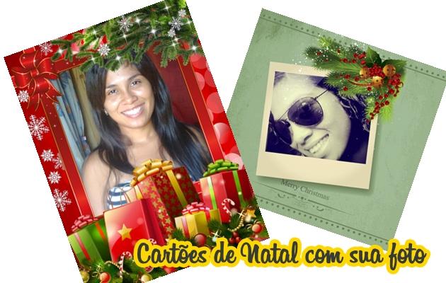 cartão de Natal com fotos
