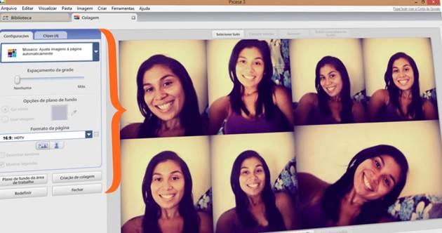 configurar painel de fotos