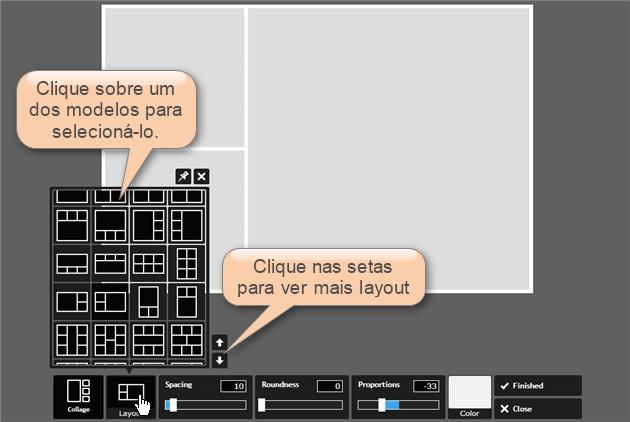selecionar layout