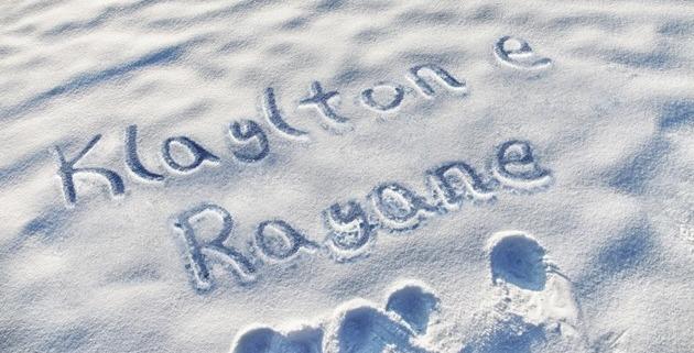 nome escrito na neve