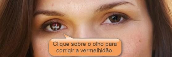 removendo olhos vermelhos