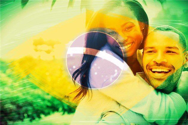 montagem bandeira do Brasil